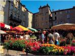 The bastide of Villefranche de Rouergue - one of the biggest markets in the region