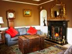 Drawing room with open fire