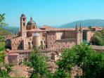 The renaissance town of Urbino - 45 mins by car.