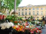 Flower market, 100 meters from the apartment