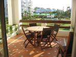 Overlooking the pool and gardens, perfect for dining 'al fresco'!