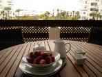 Dine on the balcony!