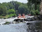 Rafting on the nearby Vienne