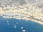 Aerial View of Cannes and Cannes Grand Parc
