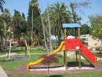 many childrens' playgrounds around the Complex Dvori Lapad