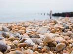 The pebble beach at Eastbourne