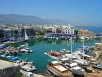 The scenic Kyrenia Harbour is just a 20 minute drive away