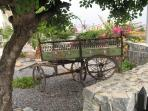 Welcome to Crystal Bay View. This lovely Cypriot cart makes a fabulous entrance feature to the site.
