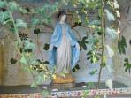 Traditional shrine detail in garden