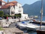 The enchanting Venetian village of Perast, near Orahovac, at the mouth of the Boka