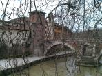 A view on Tiber river