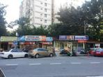 Mini mart, laundry shop, restaurants and 24 hr taxi stand just outside the apartment.