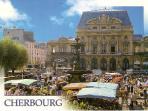 La place du théâtre à Cherbourg