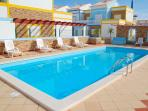 Soak up the sun beside the pool on one of our sunbeds by the gated and enclosed swimming pool