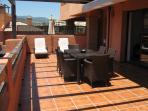 Terrace Area With Retractable Sun Awning