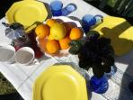 Have a breakfast in the garden under the sun