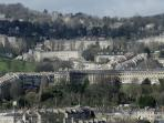 Stunning view of Bath from apartment