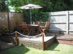 Garden with decking area