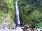 Glenevin waterfall,2 miles from house.