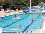 The outdoor swimming pool open in July and August.