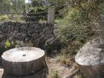 Old Mill Stones from when olives were farmed here.