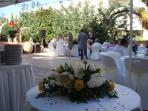 Wedding reception at the garden