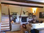 living room-fireplace