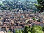 Vue aérienne ville de Apt - Aerial View City Apt