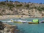 Konnos Bay with watersports