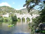 Roquebrun, for walking, canoeing, swimming