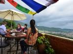 the breakfast terrace at the Jasmin House