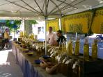 local Valbonne village market stall