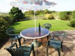 Terrace with garden furniture for al fresco dining