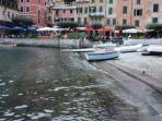 Portofino's famous romantic little port
