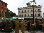 Chiavari's old market square - daily fresh produce