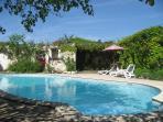 Pool in walled garden