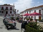 Cafe square at Mijas Pueblo