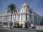 The famous Hotel Negresco is a 10 minute walk along the sea front from our apartment.