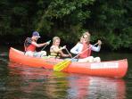 Canoeing on The Dordogne River