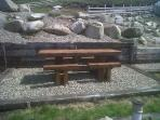 Bespoke Picnic Table made from Pine Sleepers - will seat 8 comfortably