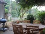 Spacious terrace,table,chairs ,shady tree,BBQ plus magnificent views of the forrest