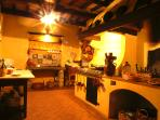 Owners kitchen to prepare on request tuscan meals for you