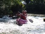 Canoeing at the Rejallant