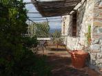 il terrazzo dell'appartamento Tiburzi