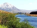 Many local fishing areas near Willowfarmhouse view of Donegal Largest Mountain Errigal famous for cl