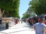 The seafront market at Torrevieja