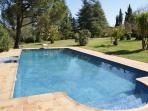 A 12m pool in a beautiful garden in a national park