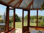 Glorious unspoilt views from the conservatory/dining room