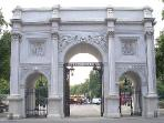 The iconic Marble Arch...