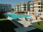 View of main pool and apartments